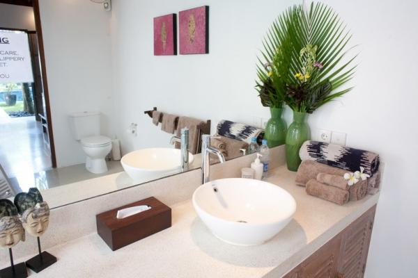 Single Washbasin And Towel Facilities