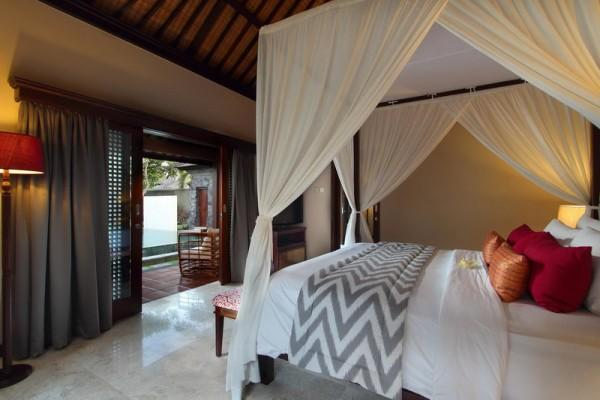 Three Bedroom Pool Villa   Bedroom Overlooking Pool