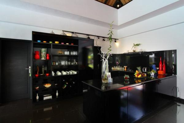 Modern Kitchen In Black Kitchenette